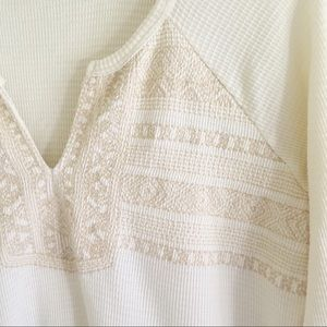 Lucky Brand Tops - Lucky Brand Embroidery Detail Thermal Top M NWOT